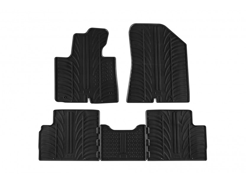 GledRing All-Weather Mats for KIA Carens after 2013 year 5 pieces Black