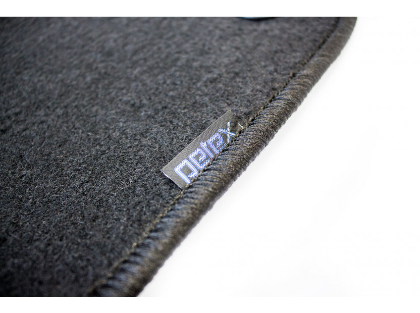Petex Carpet Mats for VW Lupo with round holes 1998-07/2001 4 pieces Black (B014) Rex fabic 2