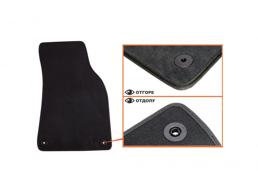 Petex Carpet Mats for Audi A6 03/2006-03/2011/A6 Avant 03/2006-08/2011 4 pieces Black (B01E8) Saturn fabric 3
