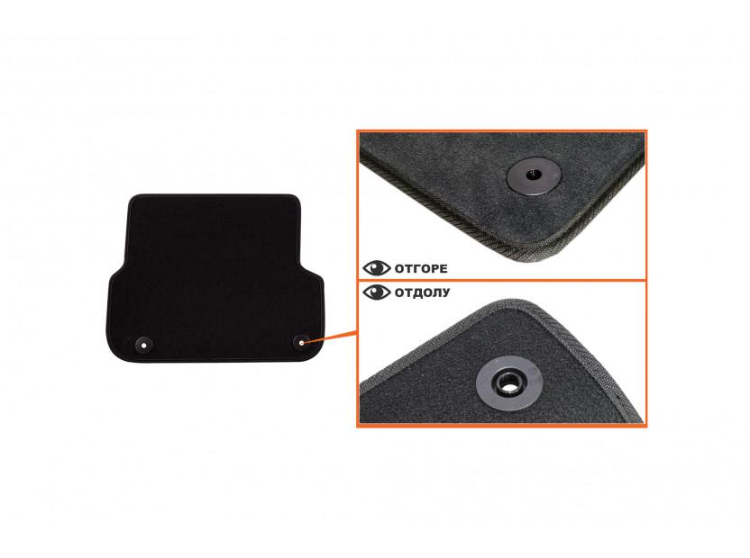 Petex Carpet Mats for Audi A6 03/2006-03/2011/A6 Avant 03/2006-08/2011 4 pieces Black (B01E8) Saturn fabric 4