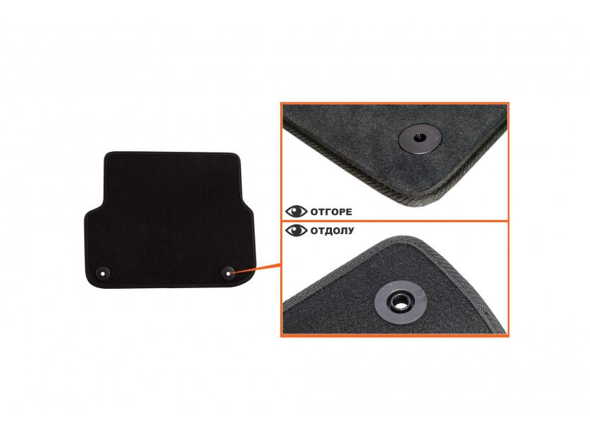 Petex Carpet Mats for Audi A6 03/2006-03/2011/A6 Avant 03/2006-08/2011 4 pieces Black (B01E8) Saturn fabric 5