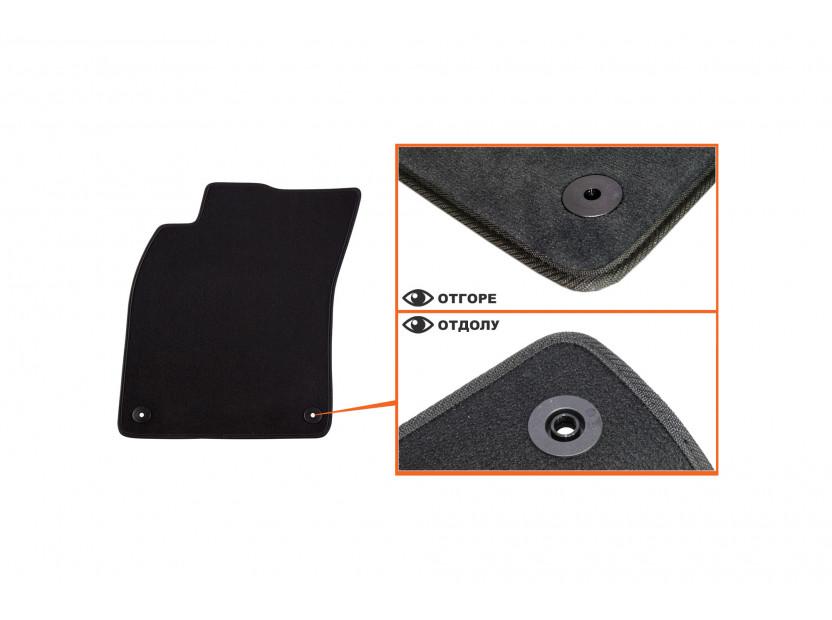Petex Carpet Mats for Audi A6 03/2006-03/2011/A6 Avant 03/2006-08/2011 4 pieces Black (B01E8) Saturn fabric 2
