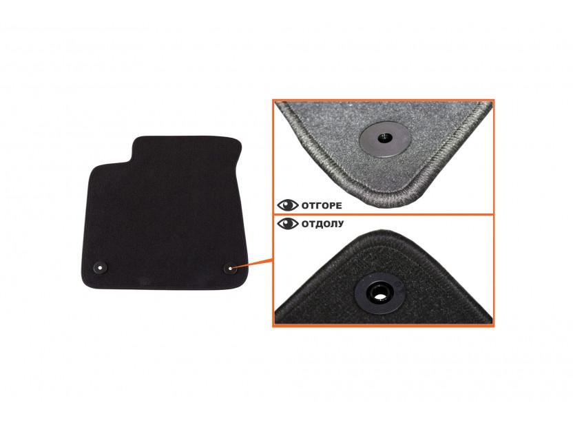 Petex Carpet Mats for Audi A8 after 03/2010 4 pieces Black (B018) Saturn fabric 2