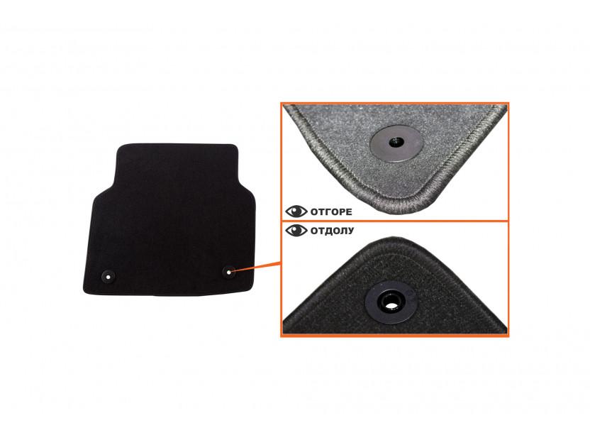 Petex Carpet Mats for Audi A8 after 03/2010 4 pieces Black (B018) Saturn fabric 4