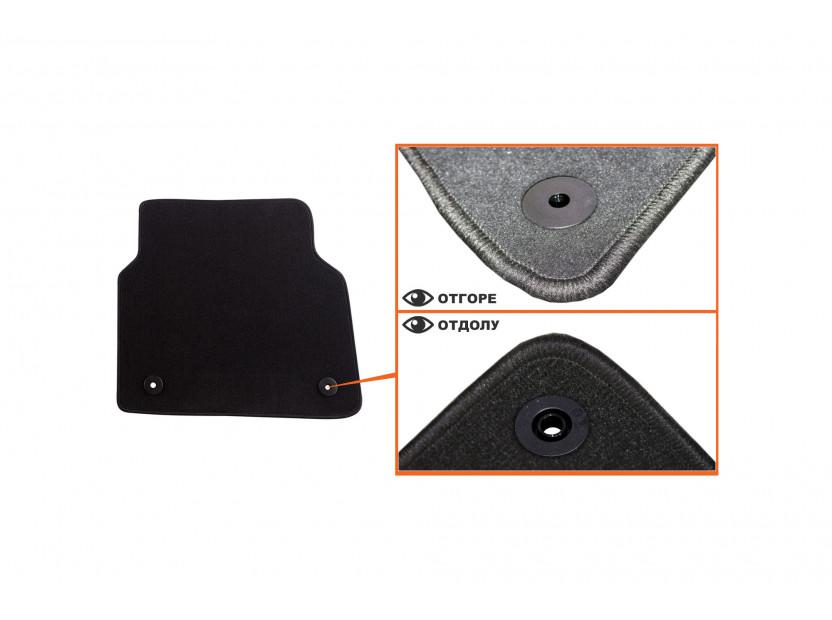 Petex Carpet Mats for Audi A8 after 03/2010 4 pieces Black (B018) Saturn fabric 5
