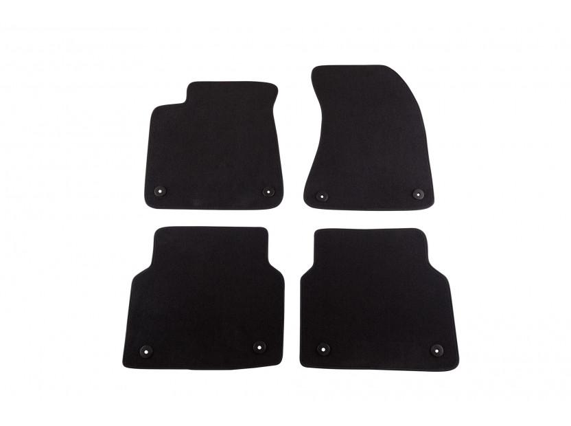 Petex Carpet Mats for Audi A8 after 03/2010 4 pieces Black (B018) Saturn fabric