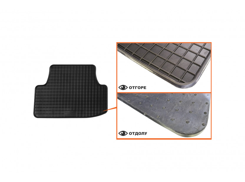 Petex All-Weather Mats for Audi A3 3 doors 09/2012 =>/A3 Cabrio 03/2013 => 4 pieces Black (B014) 4