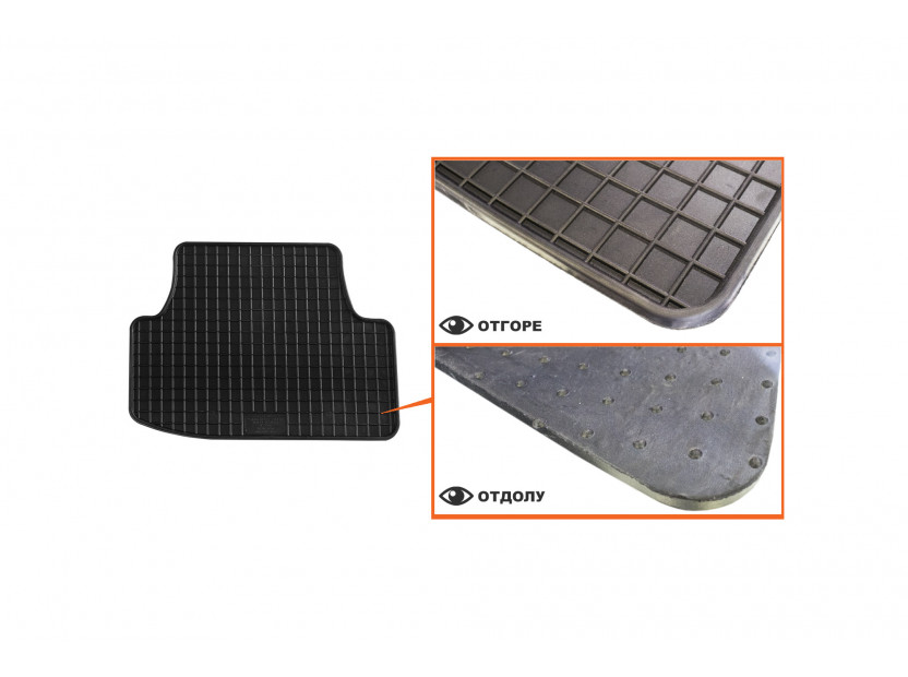 Petex All-Weather Mats for Audi A3 3 doors 09/2012 =>/A3 Cabrio 03/2013 => 4 pieces Black (B014) 5