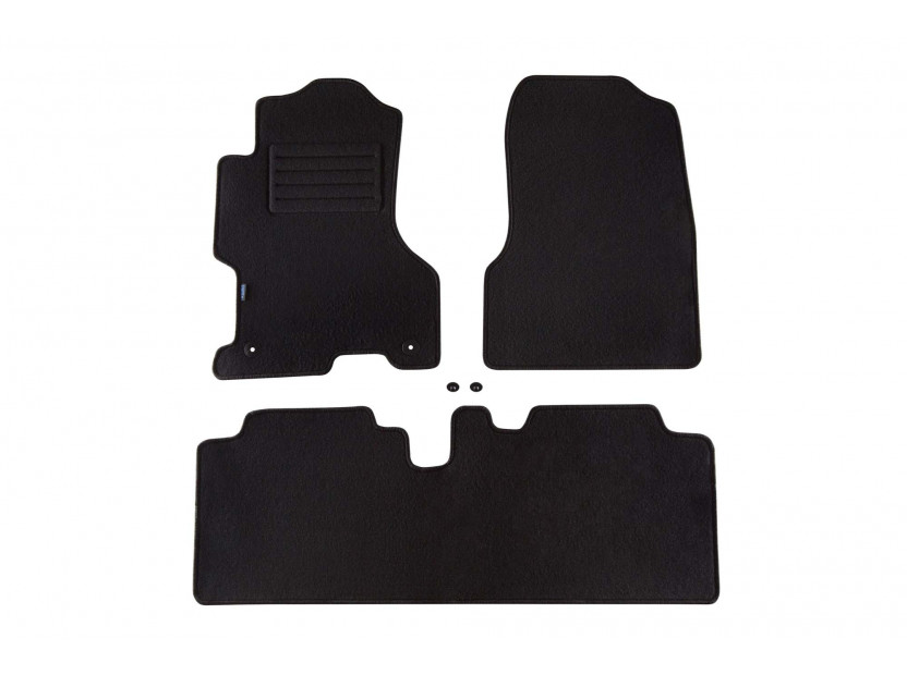 Petex Carpet Mats for Honda Civic 5 doors 03/2001-05/2003 3 pieces Black Rex fabic