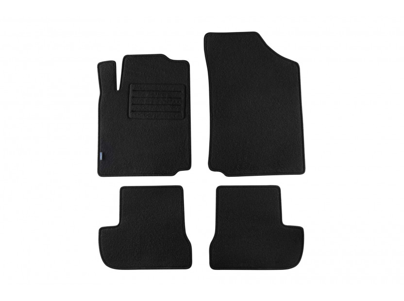 Petex Carpet Mats for Citroen C2 after 10/2003 year 4 pieces Black (KL02) Rex fabric