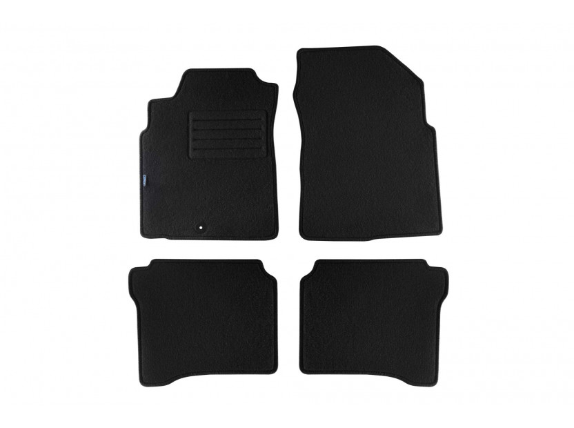 Petex Carpet Mats for Nissan P12 hatchback/traveler 03/2002-2007 4 pieces Black (B011U) Rex fabric