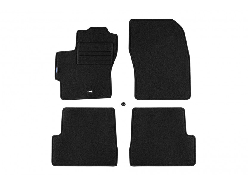 Petex Carpet Mats for Mazda 3 10/2003-03/2009 4 pieces Black (B091) Rex fabric