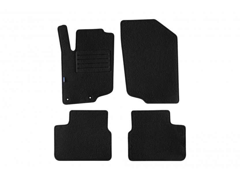 Petex Carpet Mats for Peugeot 207 3-5 doors 04/2006-03/2012/SW after 08/2007 year 4 pieces Black (B042) Rex fabric