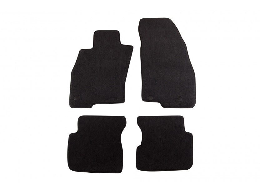 Petex Carpet Mats for Alfa Romeo Mito after 09/20084 pieces Black (B192) Style fabric