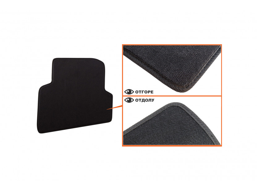 Petex Carpet Mats for Skoda Fabia after 11/20074 pieces Black  (B01A4) Style fabric 4