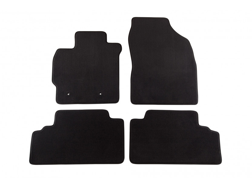 Petex Carpet Mats for Toyota Auris 02/2007-02/2010 4 pieces Black (B162) Style fabric