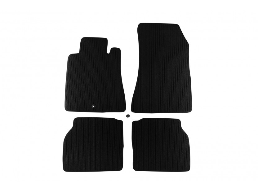 Petex Carpet Mats for  Mercedes S class W140 short base 1991-1998 4 pieces Graphite (B001) Remo fabric