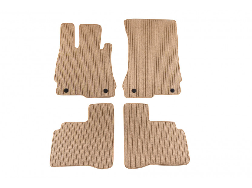 Petex Carpet Mats for  Mercedes S class W221 short base after 09/2005 4 pieces Beige (B064) Remo fabric