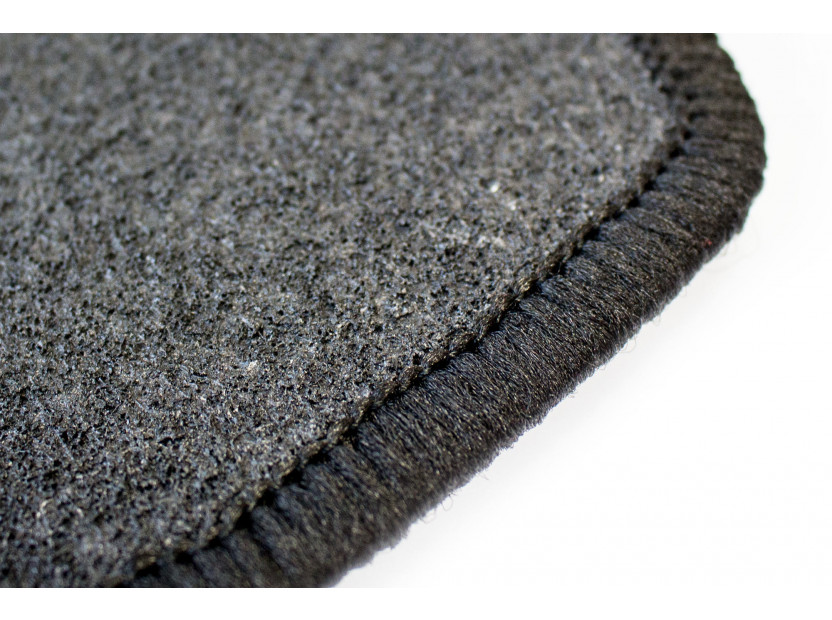 Petex Carpet Mats for VW Lupo with round holes 1998-07/2001 4 pieces Black (B014) Rex fabic 4
