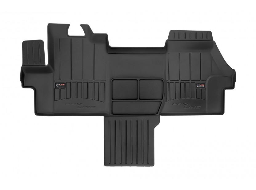 3D гумена стелка Frogum за Citroen Jumper, Fiat Ducato, Peugeot Boxer след 2006 година, 1 част, черна
