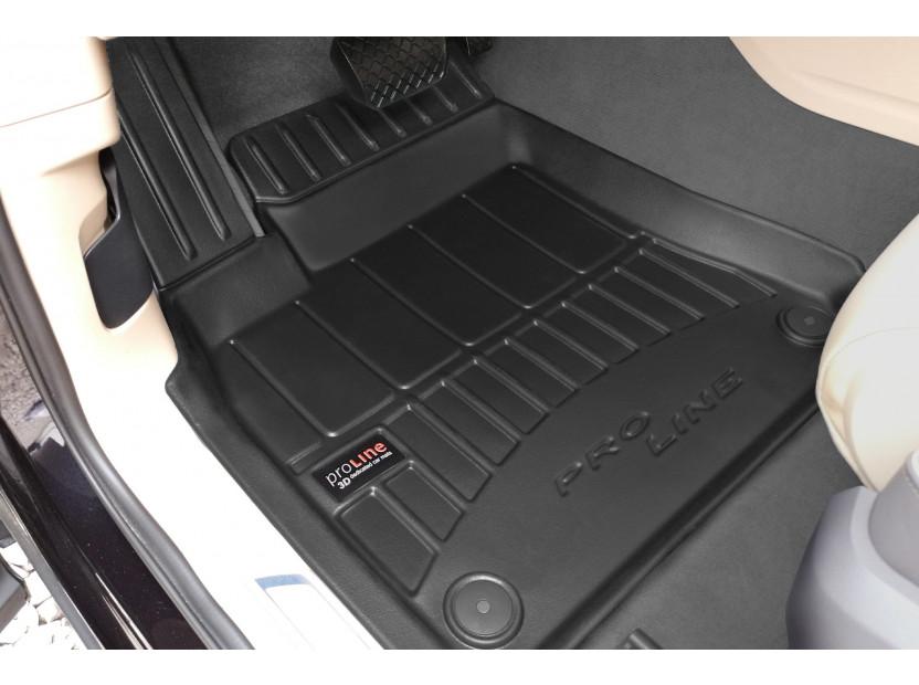 3D гумени стелки Frogum за Volkswagen Touareg след 2018 година, 4 части, черни 3