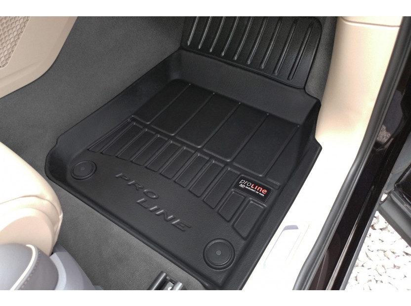3D гумени стелки Frogum за Volkswagen Touareg след 2018 година, 4 части, черни 4