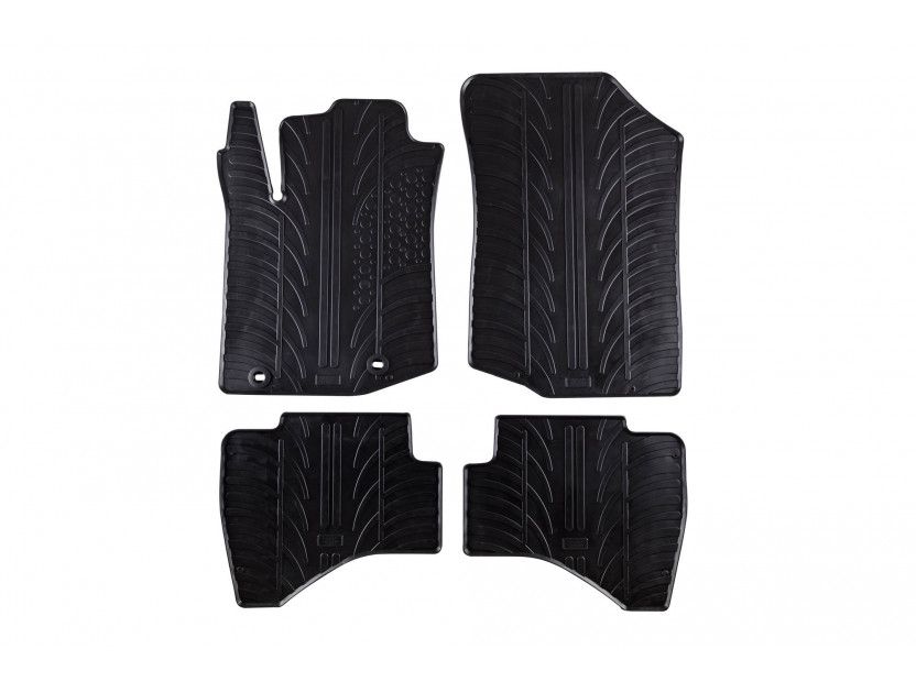 GledRing All-Weather Mats for Toyota Aygo after 2014 4 pieces Black