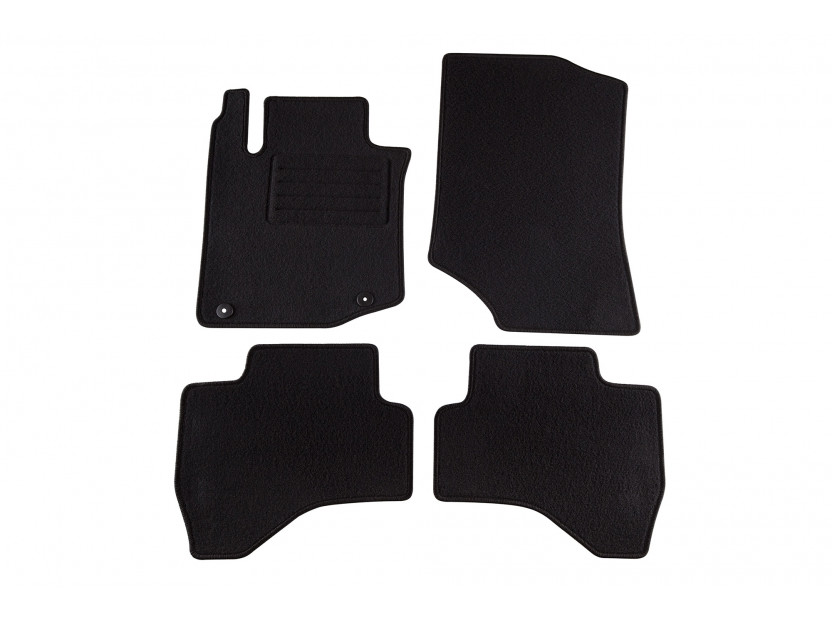Petex Carpet Mats for Citroen C1 after 07/2005 4 pieces Black (B042) Rex fabic