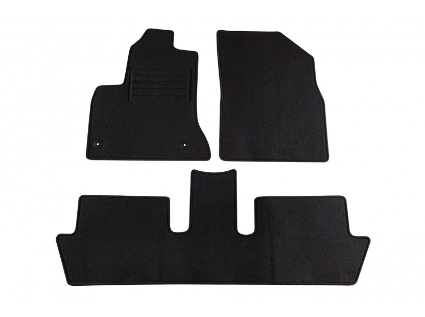 Petex Carpet Mats for Citroen C4 Picasso 5 seats after 10/2006 3 pieces Black (B042) Rex fabic