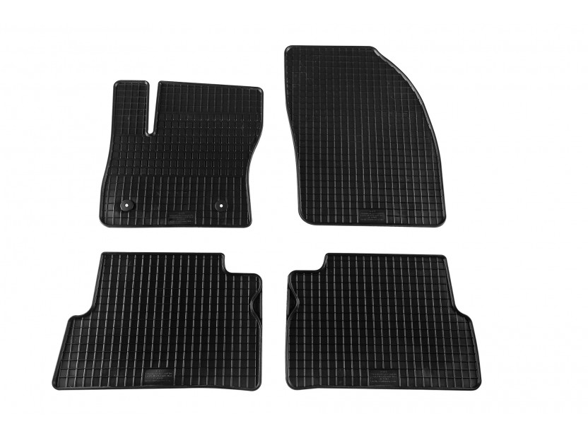Petex All-Weather Mats for Ford Focus C-Max 2003-10/2010/C-Max 11/2010-01/2012/Grand C-Max 11/2010-01/2012 4 pieces Black