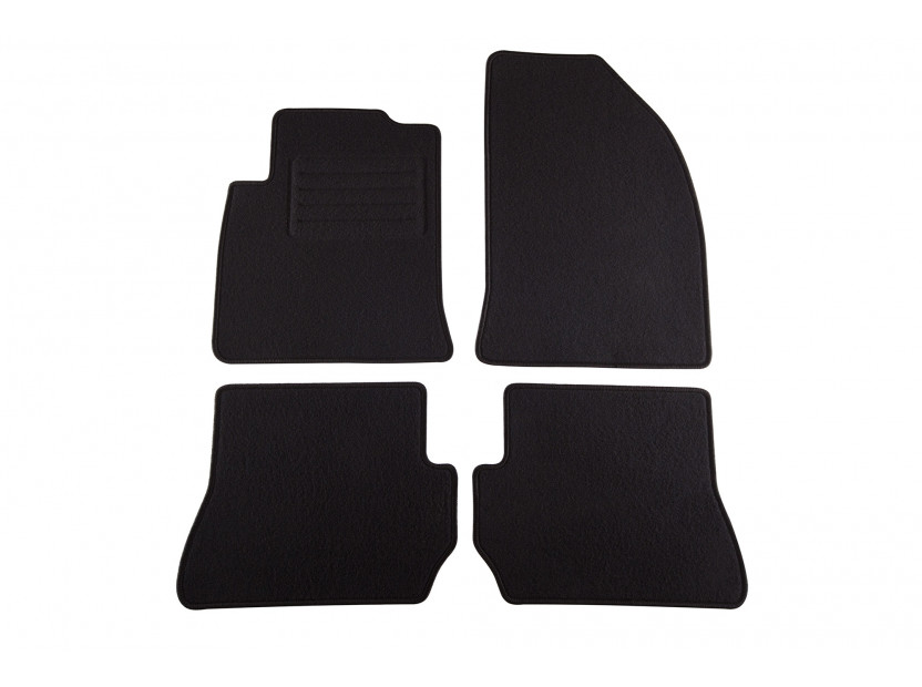 Petex Carpet Mats for Ford Fiesta 2005-08/2008/Fusion 2005-09/2012 4 pieces Black (KL01) Style fabric