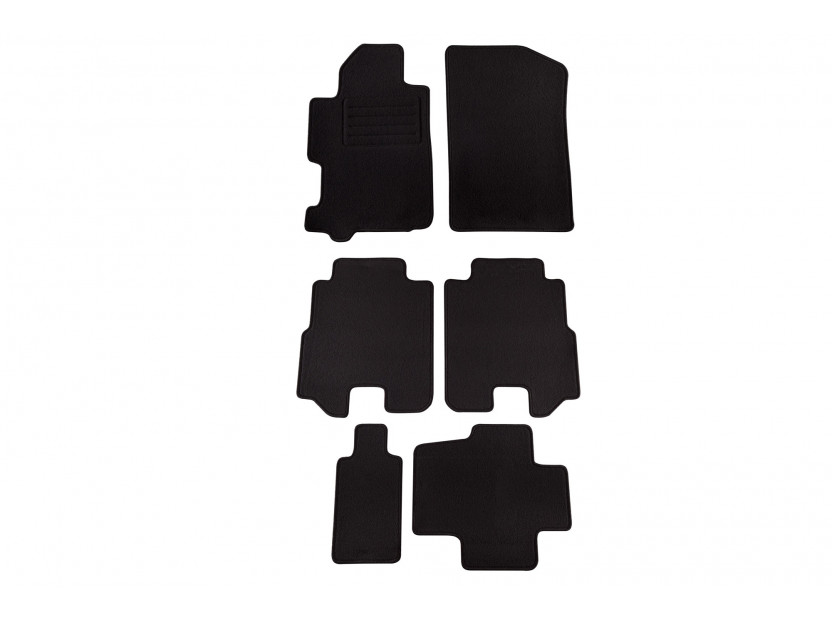Petex Carpet Mats for Honda FR-V 12/2004-2009 6 pieces Black (KL08) Rex fabic