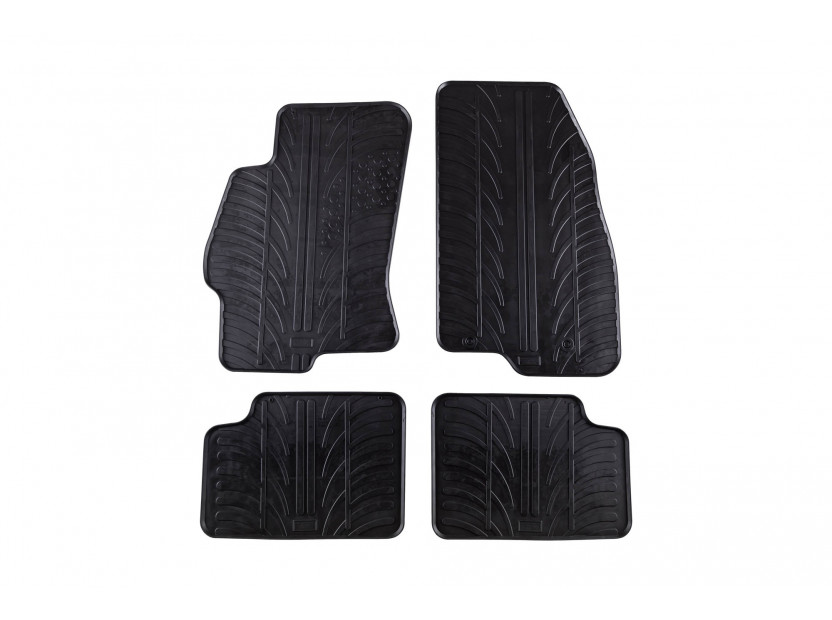 GledRing All-Weather Mats for Fiat Linea after 2007 4 pieces Black