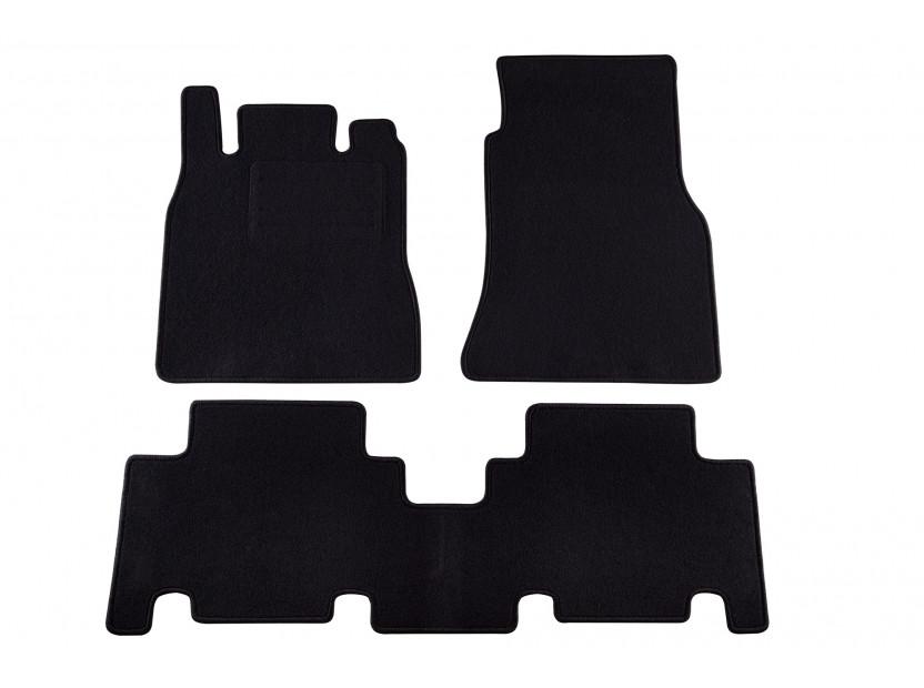 Petex Carpet Mats for Mercedes A class W168 A140-A190 03/2001-08/2004 3 pieces Black (KL02) Rex fabic