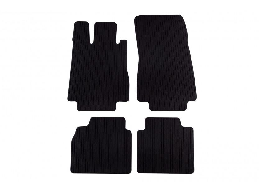 Petex Carpet Mats for  Mercedes S class W220 long base 1998-08/2005 4 pieces Black Remo fabric
