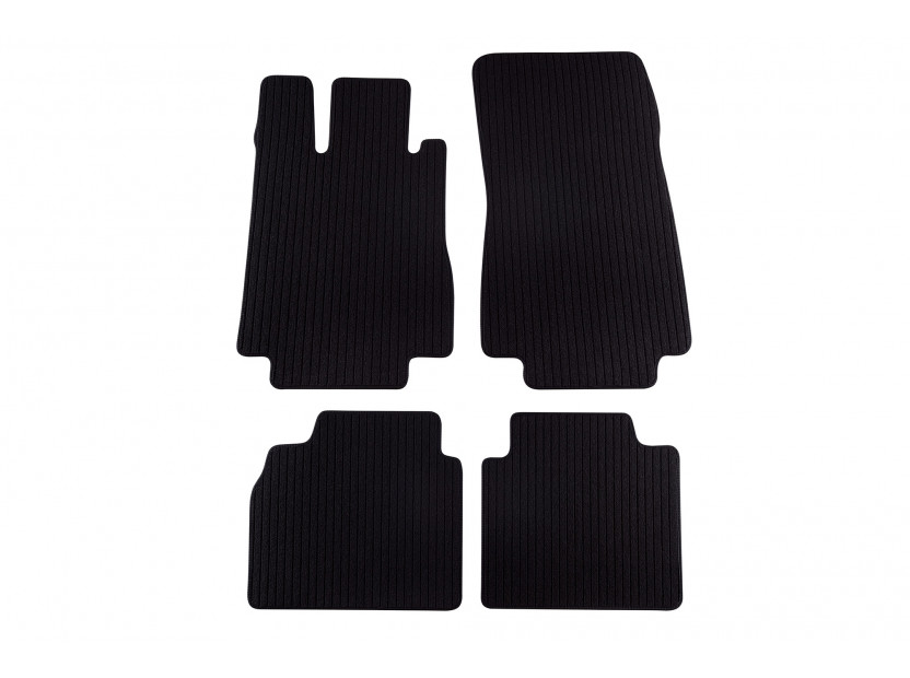 Petex Carpet Mats for  Mercedes S class W220 long base 1998-08/2005 4 pieces Black Remo fabric
