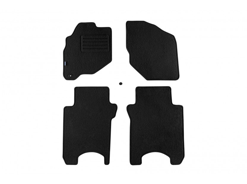 Petex Carpet Mats for Honda Jazz 01/2002-10/2008 4 pieces Black (B01E1) Rex fabric