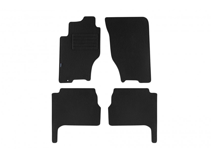 Petex Carpet Mats for Kia Sorento 09/2002-08/2006 4 pieces Black (B161) Rex fabric