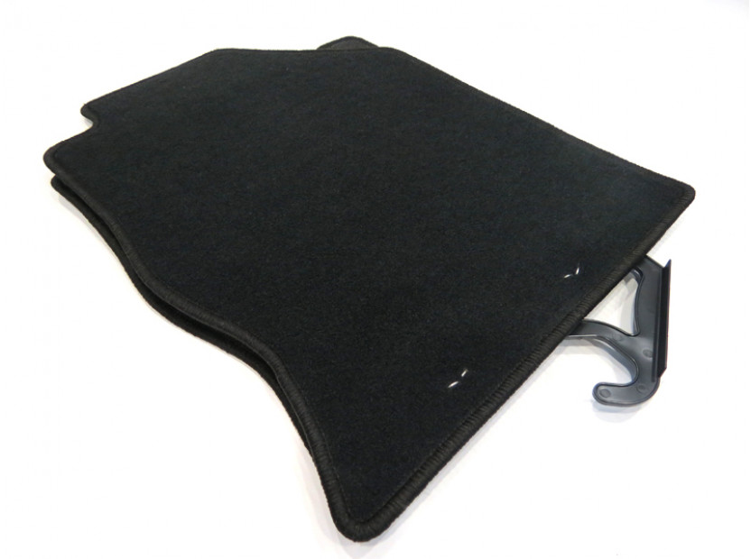 Petex Carpet Mats for Ford Focus 1998-09/2001 4 pieces Black (KL01) Rex fabric 4