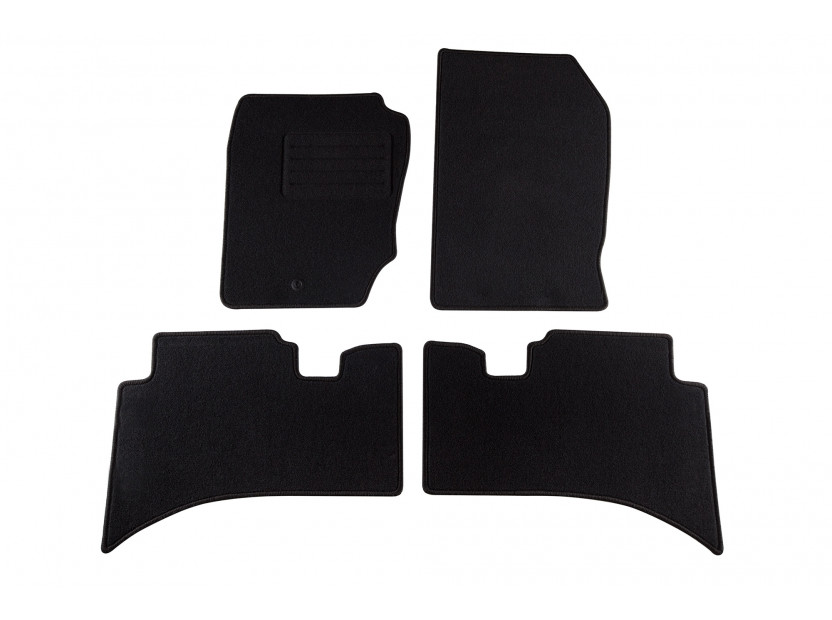Petex Carpet Mats for Range Rover 1995-2002 4 pieces Black Rex fabic