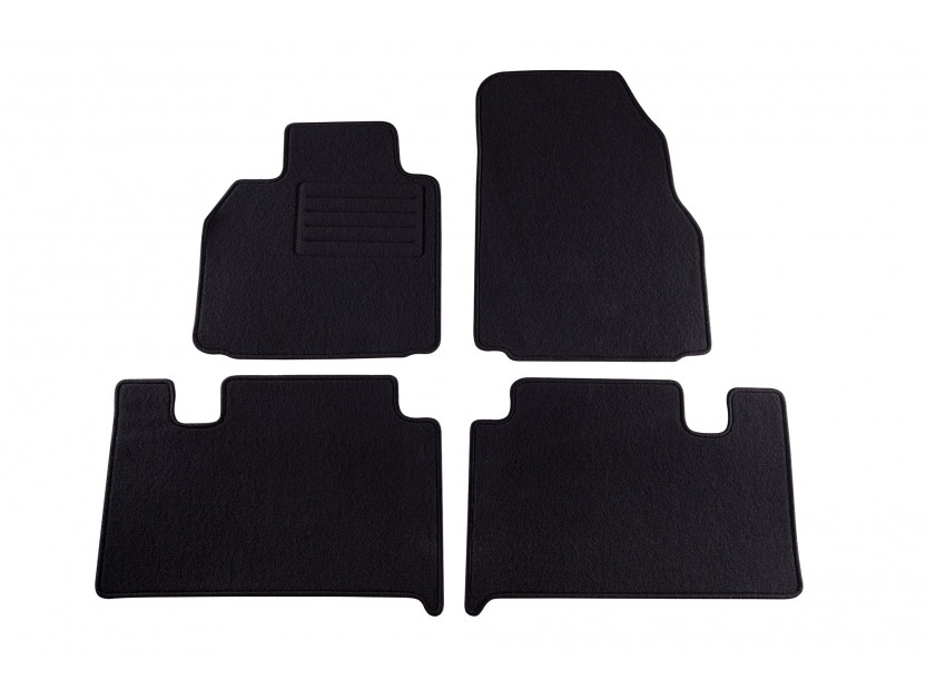 Petex Carpet Mats for Renault Grand Scenic 04/2004-03/2009 4 pieces Black (KL06) Rex fabic