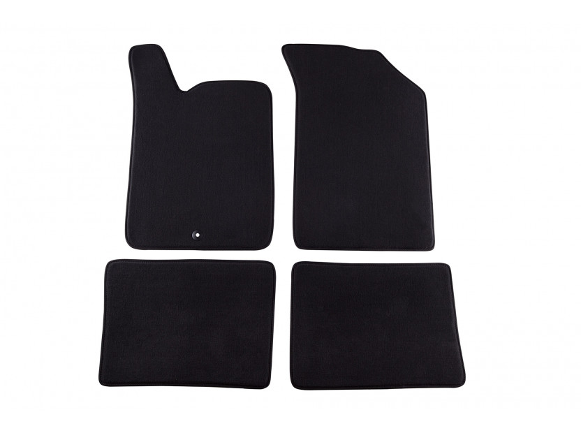 Petex Carpet Mats for Renault Clio after 10/2000/Clio 06/2001-09-2005 4 pieces Black (B001) Style fabric