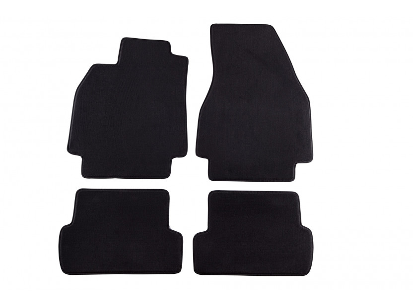 Petex Carpet Mats for Renault Megane 3-5 doors 11/2002-10/2008/station wagon 09/2003-05/2009 4 pieces Black (KL02) Style fabric