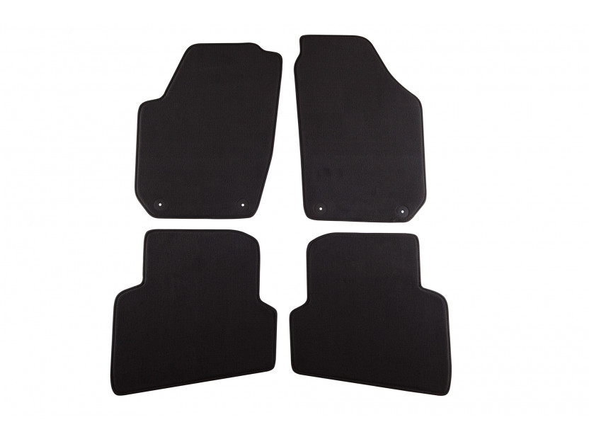 Petex Carpet Mats for Skoda Fabia after 11/20074 pieces Black  (B01A4) Style fabric