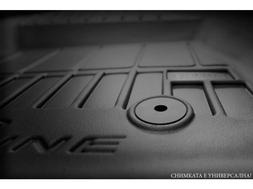 3D гумена стелка Frogum за Citroen Jumper, Fiat Ducato, Peugeot Boxer след 2006 година, 1 част, черна 3