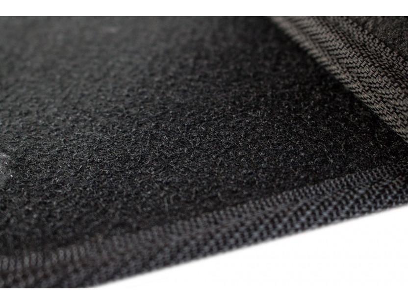 Мокетни стелки Petex съвместими с Renault Clio 2005-2012, 4 части, черни, материя Rex, захват KL02 2