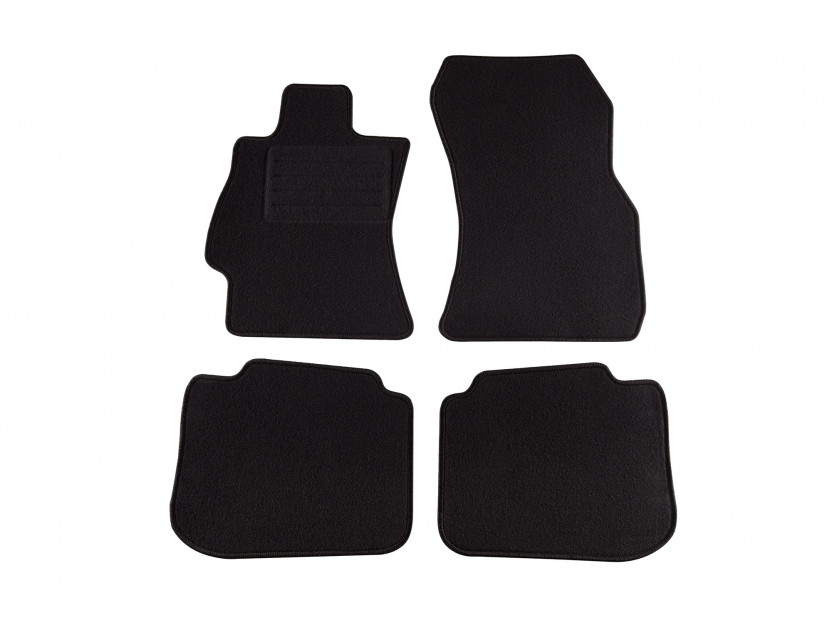 Petex Carpet Mats for Subaru Legacy/Outback after 09/2009 4 pieces Black (KL02) Rex fabic
