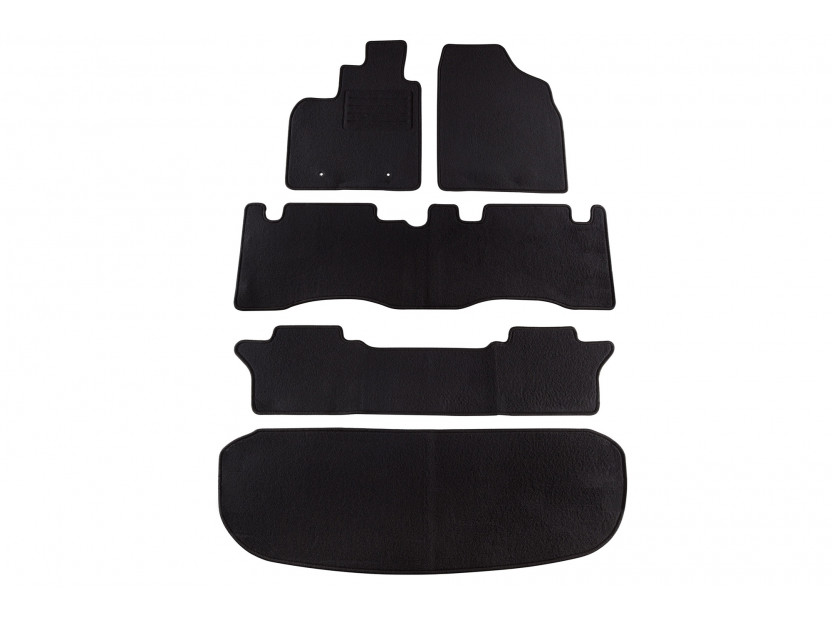 Petex Carpet Mats for Toyota Avensis Verso after 08/2001 5 pieces Black (B162) Rex fabic