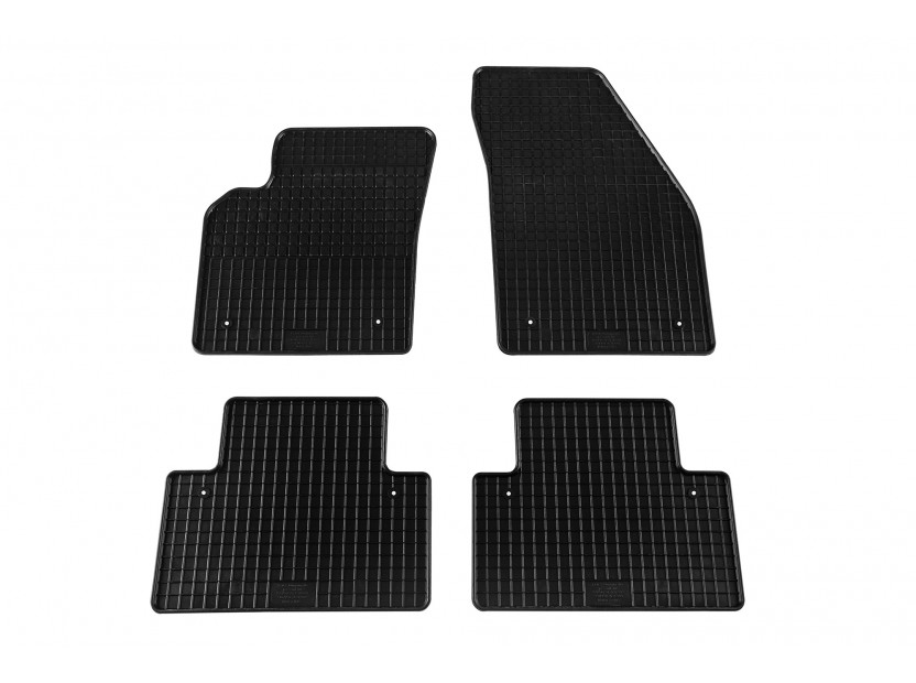 Petex All-Weather Mats for Volvo S40/V50 03/2004-07/2012/C30 01/2007 => 4 pieces Black