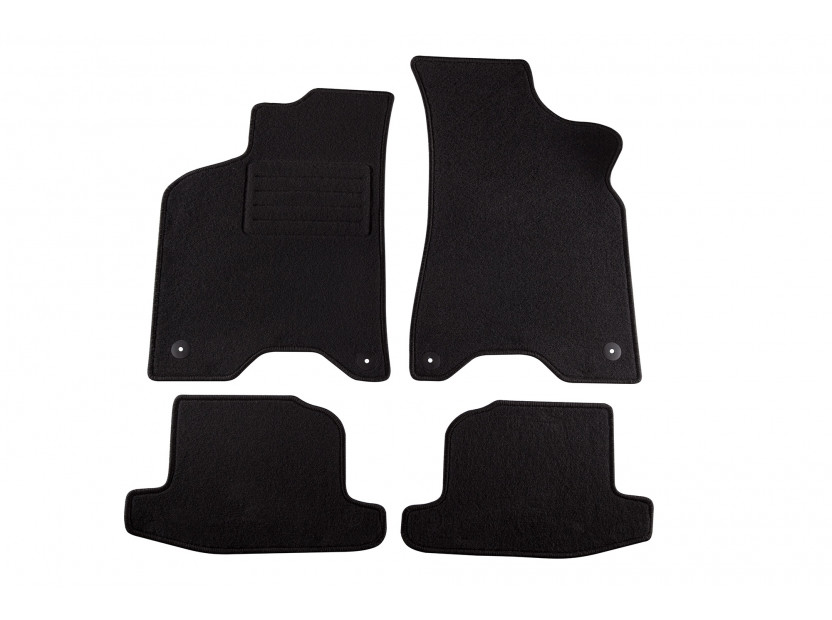 Petex Carpet Mats for VW Lupo with round holes 1998-07/2001 4 pieces Black (B014) Rex fabic